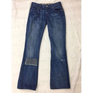 Paper Denim & Cloth Patched Distressed Jeans